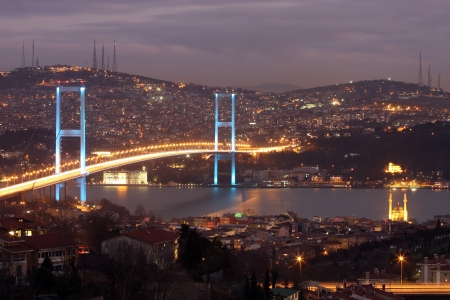 Bosphorus Bridge in Istanbul,Turkey  Editorial