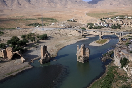 seljuk: Hasankeyf in Batman, Turkey   Stock Photo