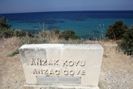 Anzac Cove in Gallipolil, Turkey