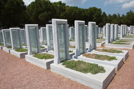 Turkish Military Cemetery in Gallipoli Peninsula,Canakkale , Turkey