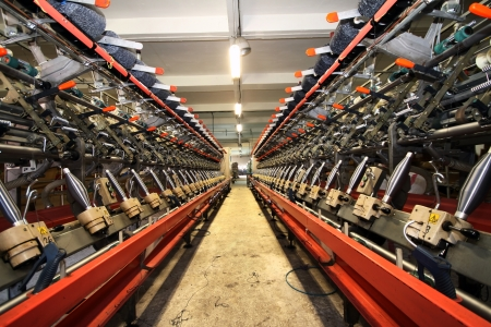 Textile industry  denim  - Weaving and warping Stock Photo - 16780420