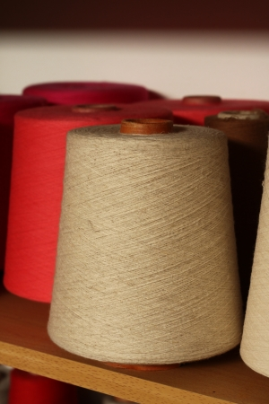 Textile industry  denim  - Weaving and warping Stock Photo - 16780394