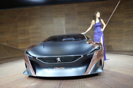 ISTANBUL,TURKEY - NOVEMBER 1: The 2013 Peugeot Onyx on display at the 2012 Istanbul Auto Show on November 1, 2012 in Istanbul, Turkey.