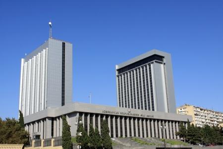 baku: Azerbaijan parliament house in Baku Stock Photo