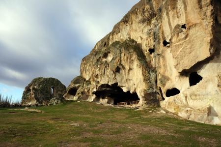 phrygian: Cave in Phrygian Valley,Turkey                             Stock Photo