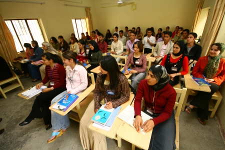 University students in Dohuk city,Kurdistan,Iraq
