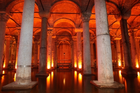 Underground Basilica Cistern, Istanbul, Turkey Stock Photo - 17055712