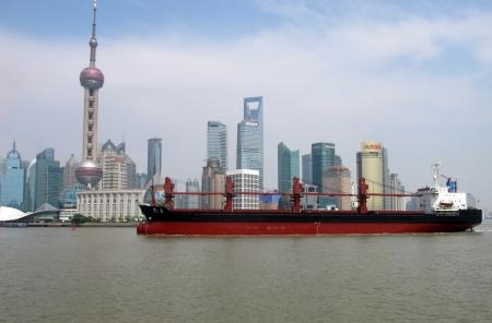 huangpu: Shanghai landscape of old building in huangpu riverside                              Editorial