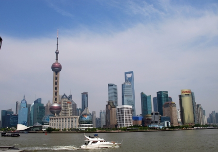 Shanghai landscape of old building in huangpu riverside