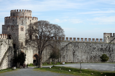 Istanbul Walls in istanbul,Turkey  Editorial