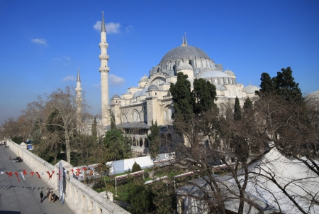 The beautiful Suleymaniye Mosque Istanbul, Turkey  Stock Photo - 17176014