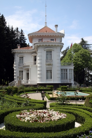 Ataturk kiosk, former Kapagiannidis summer residence, Trabzon, Black Sea, Turkey Editorial