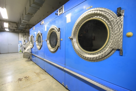 Industrial Washing Machine in Textile industr Stock Photo