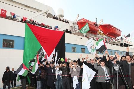 palestinian: stanbul, Turkey - January 2 : Ismail Haniyeh, prime minister of the Palestinian administration in Gaza, visited Mavi Marmara ship on January 2, 2012,Istanbul, Turkey.