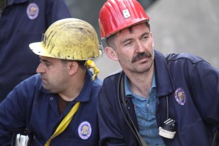 mineros: Zonguldak, Turqu�a-May 19, 2010: Mineros turcos en Zonguldak, Turqu�a. Editorial