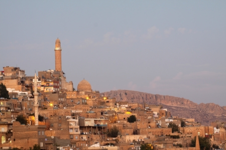 Night lights of the Mardin City,Turkey  photo