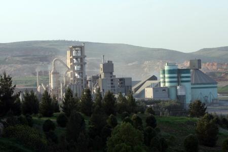 cement chimney: Cement Factory in Mardin,Turkey Editorial