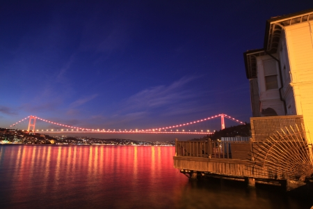 Fatih Sultan Mehmet Bridge in Istanbul photo