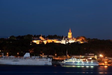 topkapi: Night view of Topkapi Palace