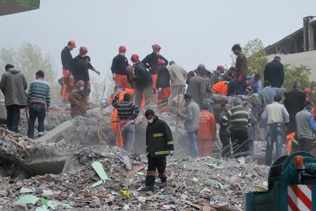 Ercis, Turkey-October 26, 2011: Earthquake damage in Van, Turkey. October 26, 2011