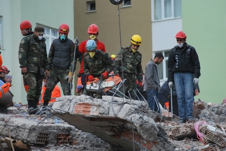 Ercis, Turkey-October 26, 2011: Earthquake damage in Van, Turkey. October 26, 2011.