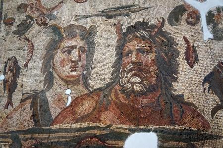 Oceanus Tethys Mosaic in Antakya Museum
