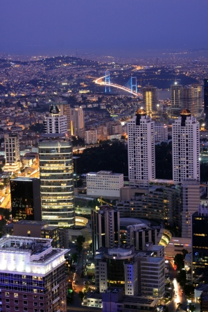 Skyscraper in Istanbul,Turkey  Stock Photo