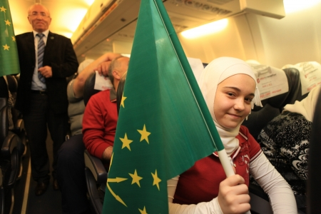 GAZİANTEP,TURKEY-APRİL 25: Circassians living in Syria came to Turkey to escape the country.Syrian Circassians were placed in a refugee camp on April 25, 2013  in Gaziantep,Turkey.
