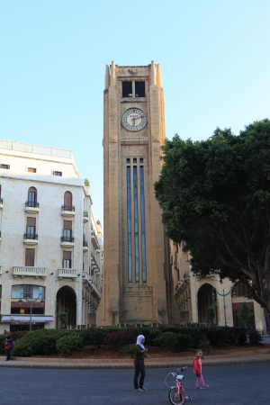 beirut lebanon: Downtown Beirut  Lebanon  , the post war renovated tourist area with its famous tower clock Editorial