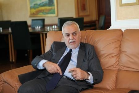 politican: ISTANBUL,TURKEY-MAY 3, 2013 : Iraqi Vice President Tariq al-Hashimi visited Turkey.