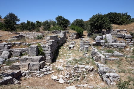 Troy archaeological site, Turkey Stock Photo