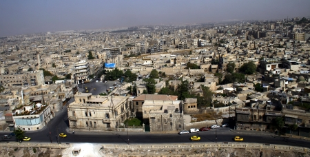 Aleppo city in Syria Stock Photo
