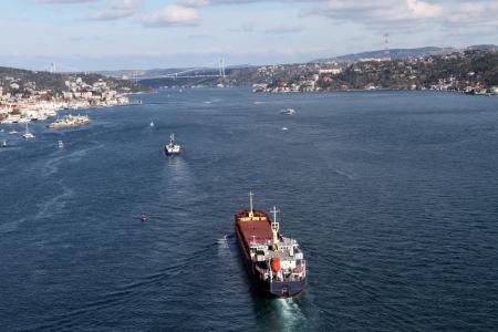 koprusu: Bosphorus and   304;stanbul Panorama Stock Photo