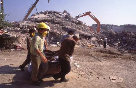 YALOVA, TURKEY-AUGUST 17   The 1999 Izmit earthquake was a 7 6 magnitude earthquake that struck northwestern Turkey on August 17, 1999  The event lasted for 37 seconds, killing around 17,000 people  Stock Photo - 27482715