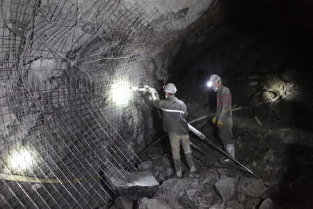 COAL MINER: Chinese mine workers employed in turkey