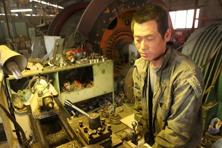 empleadas: Trabajadores de las minas chinas emplean en el pavo