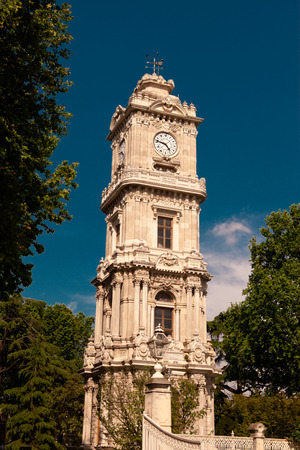 Clock Tower of Dolmabahce Palace, Istanbul  photo