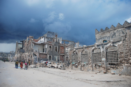 Old Center of Mogadishu,Somalia.