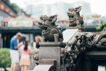 revision: Statue of a lion Stock Photo