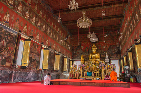 consecrated: The Buddha in the Consecrated Convacation hall of temple  Editorial
