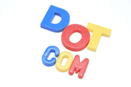 dot com: Dot Com Alphabets Stock Photo
