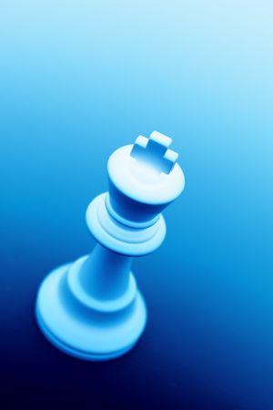 manoeuvre: King on Blue Background