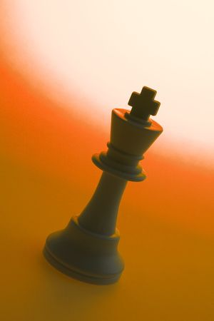 manoeuvre: King on Red Background
