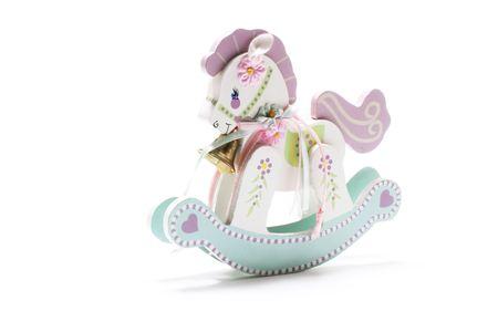 juguetes de madera: Miniature Horse Mecer con fondo blanco