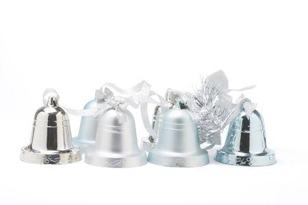christmas bells: Christmas Bells on White Background Stock Photo