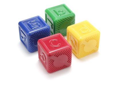 Alphabet Blocks on White Background Stock Photo - 2888557