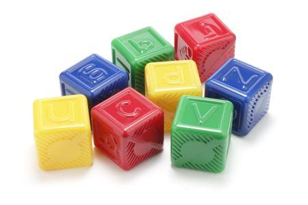 Alphabet Blocks on White Background Stock Photo - 2888564