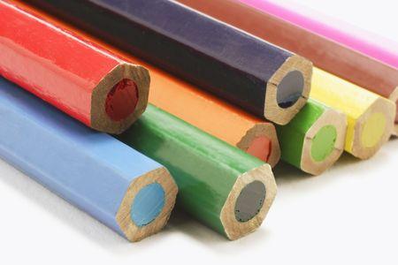 Closeup of Color Pencils photo