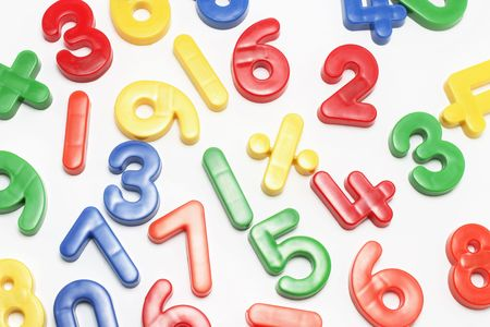 Plastic Numbers on White Background Stock Photo - 2900198