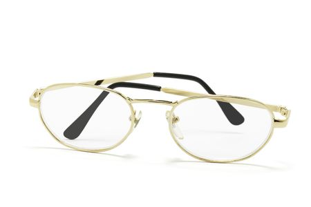 opthalmology: Eyeglasses on White Background